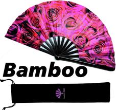Fansay Fans - Large Bamboo Rave Festival Hand Fan for Women/Men - Big Fo... - $24.65