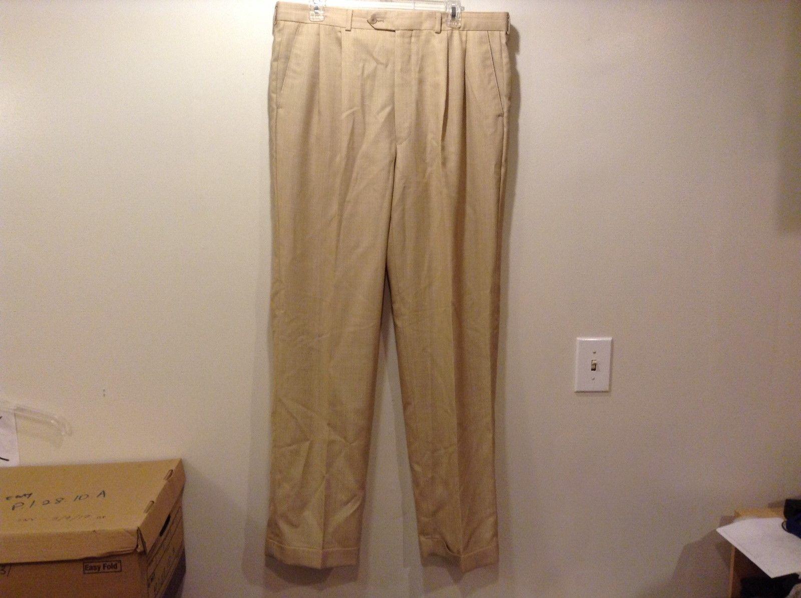CHAPS Men's Sand Colored Dress Pants