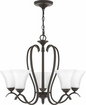 Quoizel KGF5005OZ Kingfield Chandelier, 5-Light, 500 Watts, Old Bronze (... - $104.33