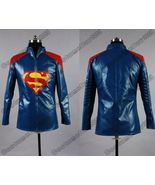 Smallville Superman Blue Leather Jacket Costume - $152.64