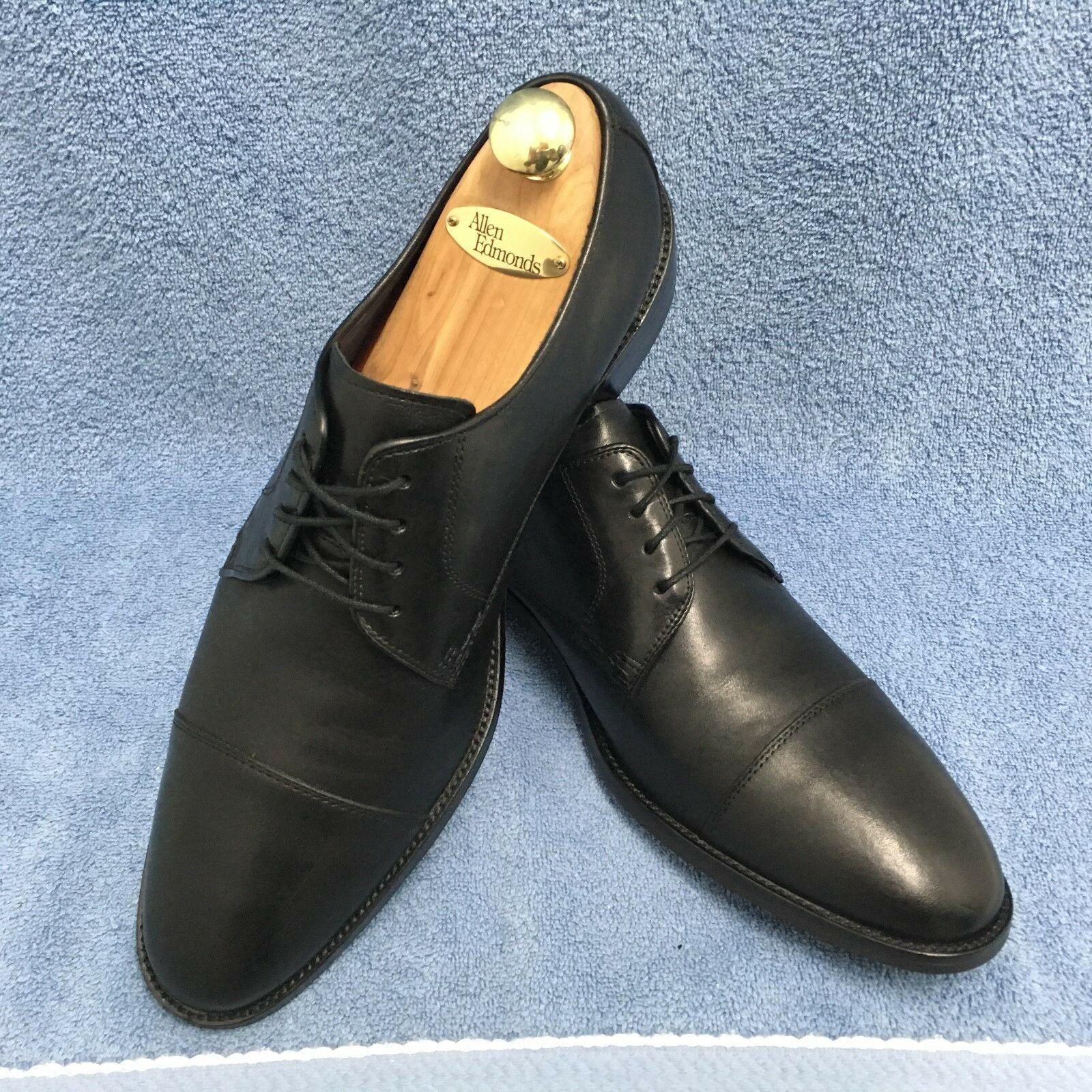 Cole Haan Lenox Hill Cap Toe Oxfords Black Leather Men's Size 12 M C11630 GUC