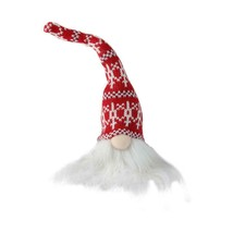 "Northlight 9"" Plush Red and White Mini Gnome in Nordic Hat Christmas Dec... - $7.66"