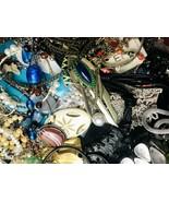 Huge Lot Junk Drawer Jewelry 8 lbs Vintage Modern Craft Repurpose Repair  - $39.60