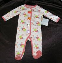 Taggies Baby Girl Caterpillar Worm 1 Piece Footie Romper Pajamas Sleeper... - $14.84