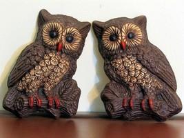 Owl Pair Wall Hanging Vintage Foam - $24.99