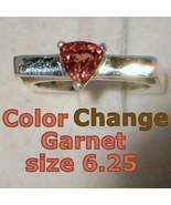 Color Change Garnet Handmade Sterling Unisex Gents Ladies Square Ring si... - £110.44 GBP