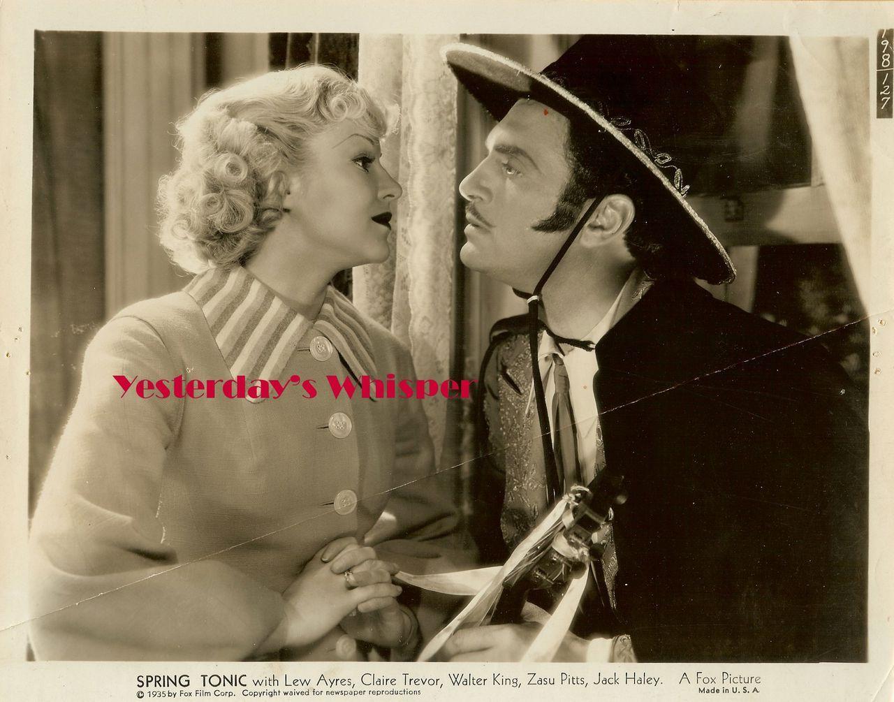1930s Claire Trevor Lew Ayres Original Movie Photo