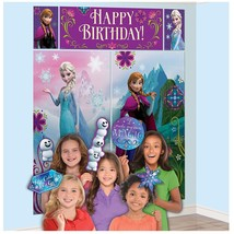 Frozen Disney Movie Princess Birthday Party Decoration Scene Setters Photo Props - $16.45