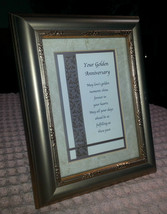 "SIMPLE OPULENCE by HEARTFELT 7"" X 9"" Framed Wall Decor ""YOUR GOLDEN ANNI... - $14.35"