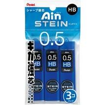 Pentel Ain Stein Mechanical Pencil Lead, 0.5mm HB, 40 Leads x 3 Pack XC2... - $5.78