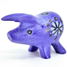 Tabaka Chigware Hand Carved Kisii Soapstone Blue Pig Miniature Mini Figurine image 3