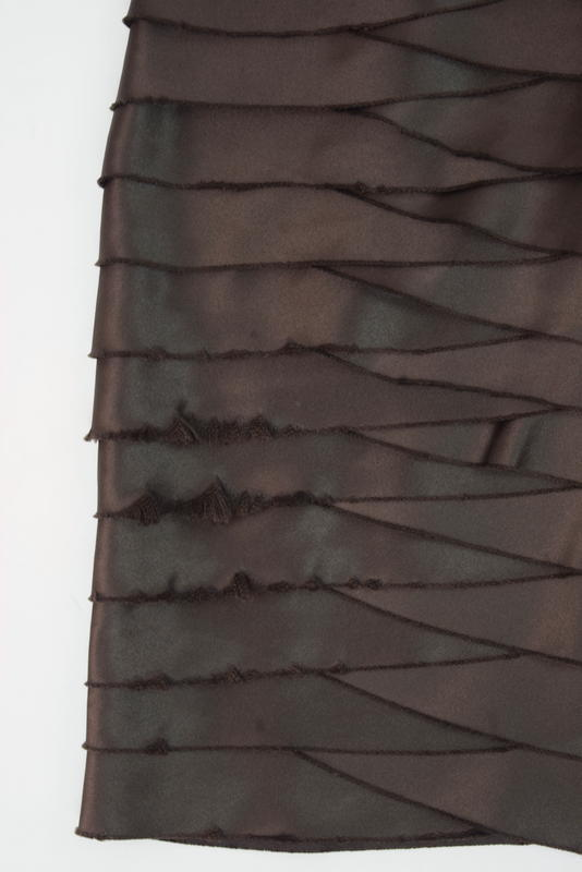 BCBG MAXAZRIA Brown Tiered Bandage Strapless Cocktail Mini Sheath Dress Size 2
