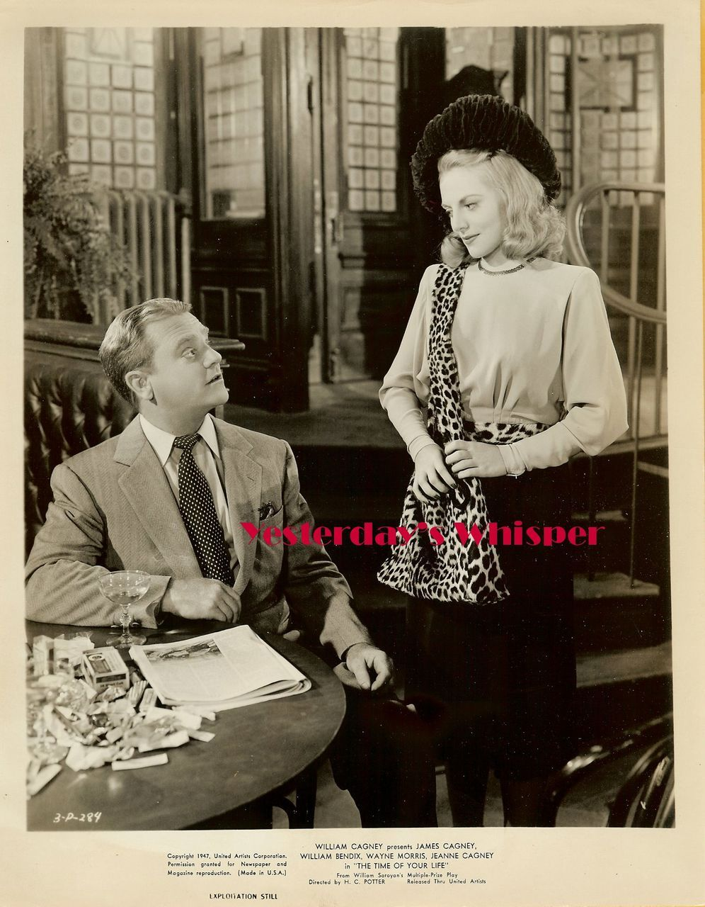 1940s Jeanne Cagney James Cagney Original Movie Photo