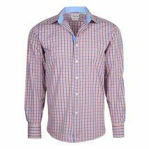 Berlioni Italy Men's & Boys Premium Yarn Dyed Luxe Cotton Dress Shirt Modern Fit image 6