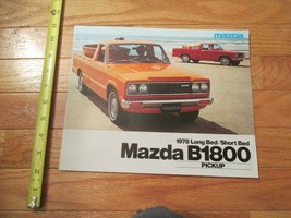 Mazda B1800 pickup Truck 1978 Car auto Dealer showroom Sales Brochure - $9.99