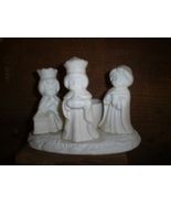 Porcelain Bisque Votive Candle Holder, Three Kings - $6.00
