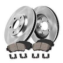 FRONT 278 mm Premium OE 5 Lug [2] Brake Disc Rotors + [4] Ceramic Brake Pads + C - $71.68