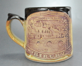 Gloucestershire Bibury England Pottery Glazed Coffee Mug Cup - $12.99