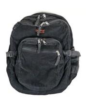 Vintage JanSport Black Corduroy Backpack Trans Full Size School Work Travel Bag - $34.64