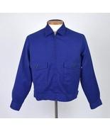 Vtg 60s LEE Blue Crop Bomber Jacket w/ Zip In Insulated Liner Work Mens ... - $68.30