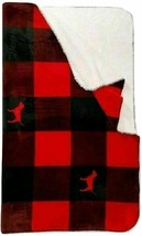 NEW VS Victoria Secret PINK Sherpa Blanket Red Pepper Flannel Dog Throw Blanket  - $69.00