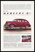 Mercury Red Four Door V8 Automobile 1939 Print Ad Ford - $14.99