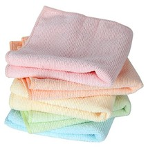 Home-X Microfiber Washcloths in Pastel Colors. Set of 5 Wash Cloths - $13.92