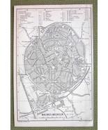 BELGIUM Malines Mechelen City Town Plan - 1885 MAP ORIGINAL Baedeker - $3.72