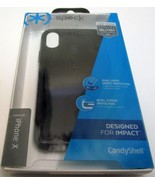 NEW Speck Products CandyShell Cell Phone Case for iPhone X Black NIB Sealed - $12.86