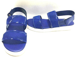 Dollhouse Blue Mesh Sport Dual Strap Fashion Sandals with White Soles, US 9 - $27.71