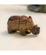 Carved Picture Jasper Rhinoceros, Hand Crafted, 2.25 Inches - $15.50