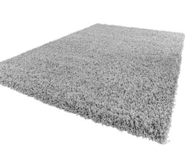160x220cm Soft Shaggy Thick Modern Rug Living Room Quality Mat Silver Grey  - $86.35