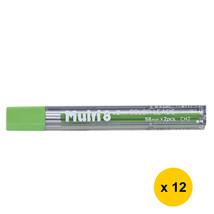 Pentel CH2 Multi 8 2.0mm Colour Pencil Refill (12 tubes) - Light Green Lead - $16.96