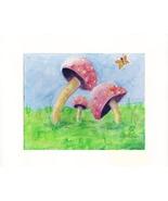 "Mushrooms in Grass - Acrylic / Canvas Board - Prints 8"" X 10 - $35.00"