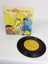 Vintage 1983 Fisher-Price Sesame Street PET SHOW 33 RPM Book & Record - $9.85