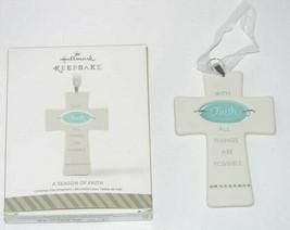 Hallmark Keepsake A Season of Faith Cross Christmas Ornament - $9.88