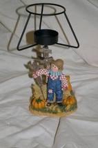 Home Interiors Scarecrow Tealight Lamp Homco - $5.99