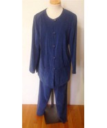 R & K ORIGINALS Wms Deep Delph Suede Cloth Pant... - $10.77