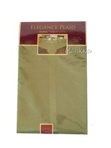Elrene Tablecloth New Elegance Green Plaid Fabr... - $34.53