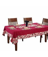 ShalinIndia Pink Floral Table Linens Set for 4 Seater Square Tables with... - $38.78