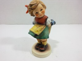 "Goebel Hummel Vintage 1989 ""Bashful"" Figurine nro. 377 (W. Germany) - $38.11"