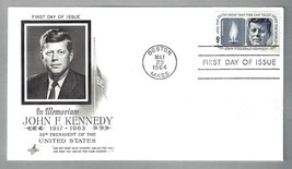 FIRST DAY COVER – PRESIDENT JOHN F. KENNEDY– 29 MAY 1964 - $10.00