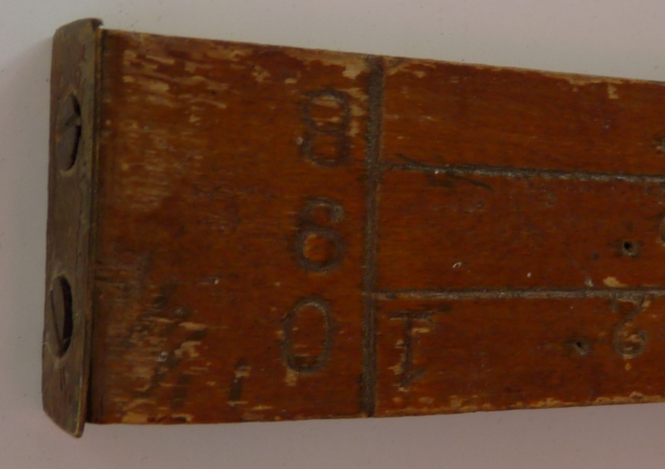 Lumber log scale ruler antique hand worked antique tool
