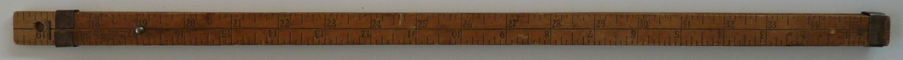 Hartwell Son advertising ruler Boston wood steel vintage measuring tool