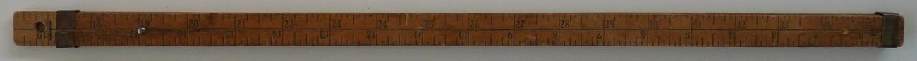 Hartwell Son advertising ruler Boston wood steel vintage measuring tool image 2