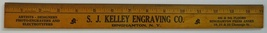 Kelley Engraving Co advertising ruler Binghamton New York photo - $9.00
