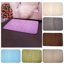 Memory Foam Bath Mats Non Slip Bathroom Carpet Horizontal Stripes Toilet... - $11.27