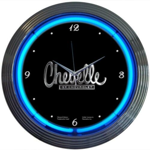 "Primary image for Chevelle Neon Clock 15""x15"""