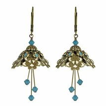 NoMonet Hand Painted Flower Fairy Earrings - Spellbinder Earrings - Gold... - $51.19