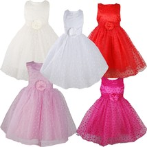 Girls Party Dress Flower Girls Dress 9 12 18 24 Months 2 3 4 5 Years - $20.21